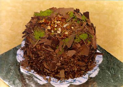 Çikolatali 4 ila 6 kisilik yas pasta  Zonguldak çiçek gönderme sitemiz güvenlidir