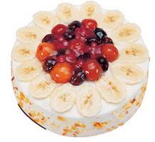 Meyvali 4 ile 6 kisilik yas pasta leziz  Zonguldak çiçekçi telefonları