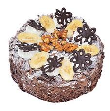 Muzlu çikolatali yas pasta 4 ile 6 kisilik   Zonguldak uluslararası çiçek gönderme