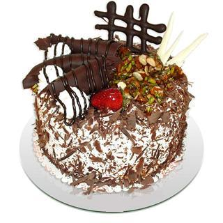4 ile 6 kisilik çikolatali yas pasta  Zonguldak kaliteli taze ve ucuz çiçekler