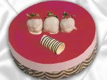 pasta siparisi 4 ile 6 kisilik yas pasta çilekli yaspasta  Zonguldak çiçek servisi , çiçekçi adresleri