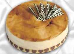 taze pasta 4 ile 6 kisilik yas pasta karamelli yaspasta  Zonguldak çiçekçiler