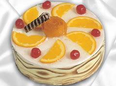 lezzetli pasta satisi 4 ile 6 kisilik yas pasta portakalli pasta  Zonguldak İnternetten çiçek siparişi