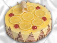 taze pastaci 4 ile 6 kisilik yas pasta limonlu yaspasta  Zonguldak online çiçek gönderme sipariş