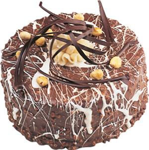 pasta satisi 4 ile 6 kisilik çikolatali yas pasta  Zonguldak çiçekçi mağazası