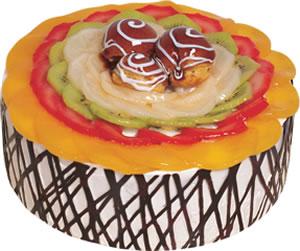 pasta siparisi 4 ile 6 kisilik meyvali yas pasta  Zonguldak çiçek satışı