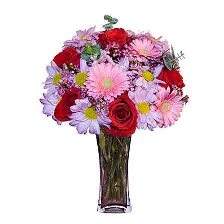 Görsel hediye karisik cam mevsim demeti  Zonguldak İnternetten çiçek siparişi
