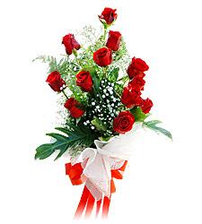 11 adet kirmizi güllerden görsel sölen buket  Zonguldak çiçek siparişi vermek