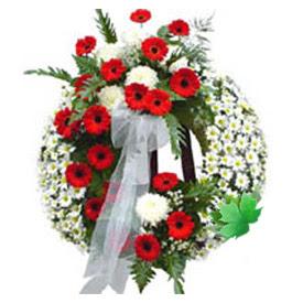 Cenaze çelengi cenaze çiçek modeli  Zonguldak uluslararası çiçek gönderme