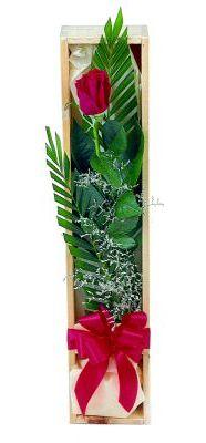 1 adet kutuda kirmizi gül  Zonguldak çiçek gönderme sitemiz güvenlidir