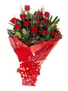12 adet kirmizi gül buketi  Zonguldak çiçekçiler