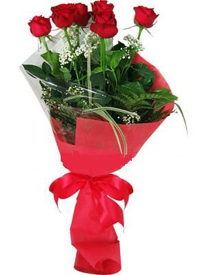 7 adet kirmizi gül buketi  Zonguldak yurtiçi ve yurtdışı çiçek siparişi