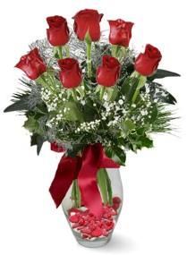 7 adet vazoda gül  Zonguldak internetten çiçek satışı  kirmizi gül