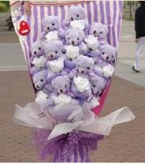 11 adet pelus ayicik buketi  Zonguldak çiçek gönderme sitemiz güvenlidir