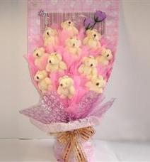 11 adet pelus ayicik buketi  Zonguldak çiçek yolla