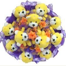 11 adet pelus ayicik buketi  Zonguldak çiçek mağazası , çiçekçi adresleri