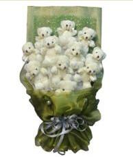 11 adet pelus ayicik buketi  Zonguldak online çiçek gönderme sipariş