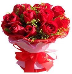 9 adet kirmizi güllerden kipkirmizi buket  Zonguldak çiçekçiler