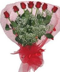 7 adet kipkirmizi gülden görsel buket  Zonguldak çiçek mağazası , çiçekçi adresleri