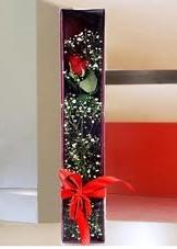 kutu içinde tek kirmizi gül  Zonguldak çiçek online çiçek siparişi