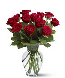 Zonguldak çiçek gönderme sitemiz güvenlidir  cam yada mika vazoda 10 kirmizi gül