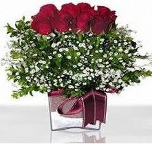Zonguldak internetten çiçek satışı  mika yada cam vazo içerisinde 7 adet gül