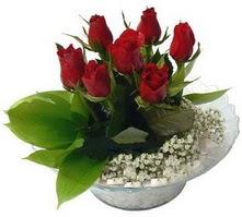 Zonguldak internetten çiçek satışı  cam yada mika içerisinde 5 adet kirmizi gül