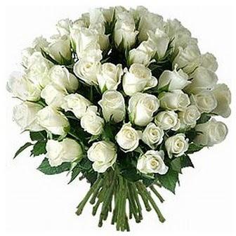 Zonguldak çiçek servisi , çiçekçi adresleri  33 adet beyaz gül buketi