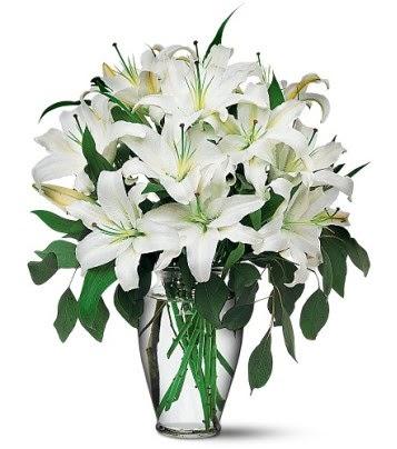 Zonguldak internetten çiçek satışı  4 dal kazablanka ile görsel vazo tanzimi