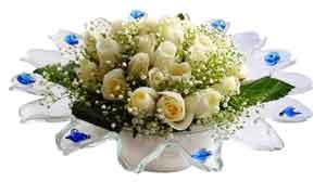 Zonguldak çiçek online çiçek siparişi  11 adet Beyaz güller özel cam tanzim