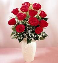 Zonguldak İnternetten çiçek siparişi  9 adet vazoda özel tanzim kirmizi gül