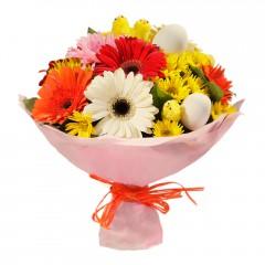 Karışık mevsim buketi Mevsimsel çiçek  Zonguldak internetten çiçek siparişi