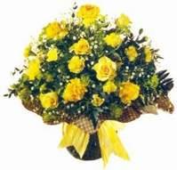 Zonguldak çiçek , çiçekçi , çiçekçilik  Sari gül karanfil ve kir çiçekleri