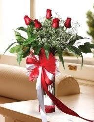 Camda 5 kırmızı gül tanzimi  Zonguldak ucuz çiçek gönder