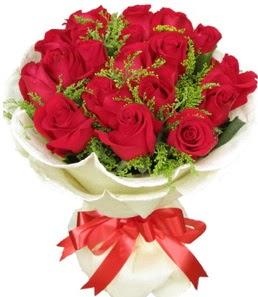 19 adet kırmızı gülden buket tanzimi  Zonguldak çiçek servisi , çiçekçi adresleri