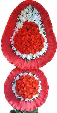 Zonguldak online çiçek gönderme sipariş  Çift katlı kaliteli düğün açılış sepeti