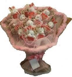 12 adet tavşan buketi  Zonguldak çiçek mağazası , çiçekçi adresleri