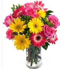 Vazoda Karışık mevsim çiçeği  Zonguldak İnternetten çiçek siparişi