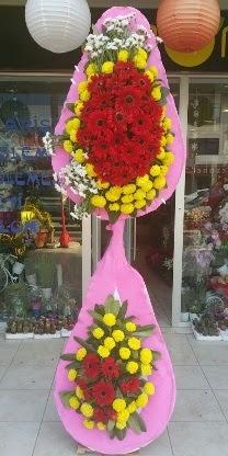 Çift katlı düğün nikah açılış çiçek modeli  Zonguldak çiçekçiler