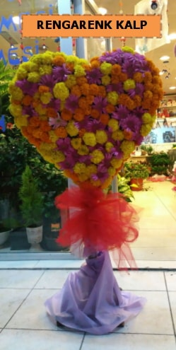 Ankara mevsim çiçeklerinden kalp perförje  Zonguldak ucuz çiçek gönder