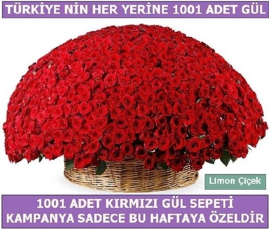 1001 Adet kırmızı gül Bu haftaya özel  Zonguldak çiçekçi mağazası