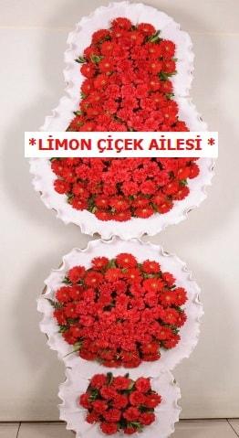 3 katlı kırmızı düğün açılış çiçeği  Zonguldak çiçek gönderme