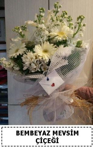 Bembeyaz görsel mevsim çiçek buketi  Zonguldak çiçek yolla