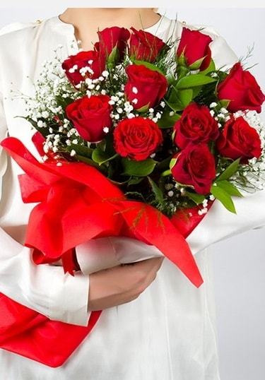 Aşk Gülleri 11 Adet kırmızı gül buketi  Zonguldak ucuz çiçek gönder