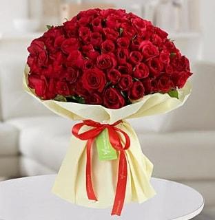 101 adet kırmızı gül buketi koca demet  Zonguldak internetten çiçek siparişi