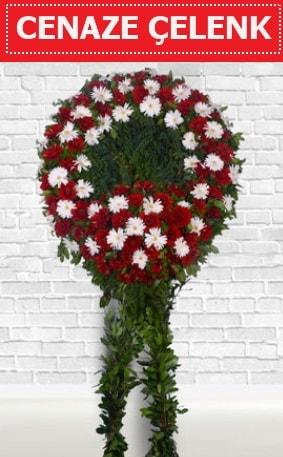 Kırmızı Beyaz Çelenk Cenaze çiçeği  Zonguldak çiçekçi mağazası