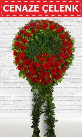 Kırmızı Çelenk Cenaze çiçeği  Zonguldak çiçekçi mağazası