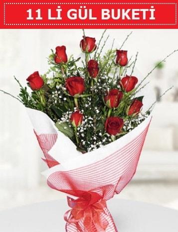 11 adet kırmızı gül buketi Aşk budur  Zonguldak çiçek gönderme sitemiz güvenlidir