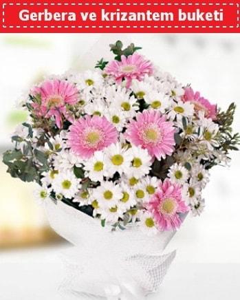 Papatya ve Gerbera Buketi  Zonguldak çiçek , çiçekçi , çiçekçilik
