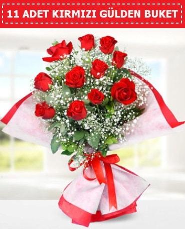 11 Adet Kırmızı Gül Buketi  Zonguldak internetten çiçek siparişi